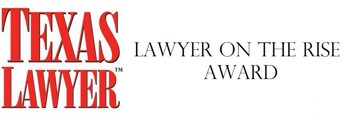 Brian Walker received the Lawyer on the Rise Award from Texas Lawyer Magazine.